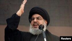 Sayyed Hassan Nasrallah, pemimpin kelompok militan Hizbullah Lebanon