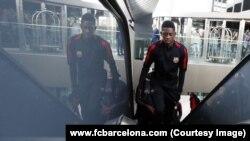 Photo de l'attaquant français Ousmane Dembélé, recrue phare du FC Barcelone, publiée le 19 septembre 2017 sur le site internet du club. (www.fcbarcelona.com)