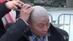 妇女节人权人士剃光头挺刘霞