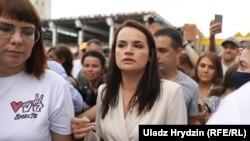 Світлана Тихановська у Мінську 9 серпня 2020 р.