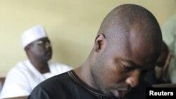 一名被懷疑是伊斯蘭教派博科聖地的成員阿里.歐麥爾去年底在尼日利亞首都阿布賈接受審判