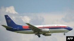 Nesta imagem de arquivo, aeronave da Sriwijaya Air, Boeing 737-300