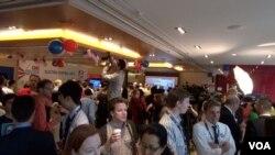 香港美國商會11月17日舉辦觀看美國大選活動(美國之音 譚嘉琪拍攝)