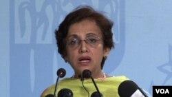 Jurubicara Kementerian Luar Negeri Pakistan, Tehmina Janjua mendesak Afghanistan berhenti melontarkan tuduhan.