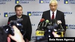 Ivica Dačić i Boris Tadić na konferenciji za novinare, Beograd, 12. jun 2012.