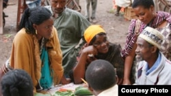 FILE - Farmers attend one of the plant clinics in East Africa (Courtesy - CABI).
