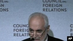 Imam Feisal Abdul Rauf speaking at the Council on Foreign Relations in New York