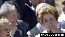 Les anciens présidents brésiliens Luiz Inacio Lula da Silva et Dilma Rousseff, Brasilia, 12 mai 2016