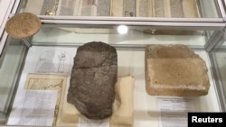 Seized artifacts found by Norway police are seen in this handout picture, in Viken region, Norway August 24, 2021. Picture taken August 24, 2021. (Norwegian Police/Handout via REUTERS)