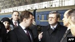 Дмитрий Медведев на Киевском вокзале 10 февраля 2011г.