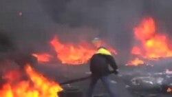 دو تظاهرکننده در کي اف (اوکراين) کشته شدند