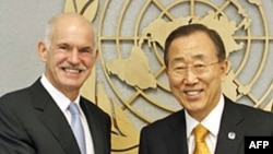Yunan Başbakanı Papandreou'dan Kıbrıs Cumhurbaşkanı Hiristofyas'a Destek