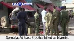 VOA60 Africa - 3 Dead in Mogadishu Blast