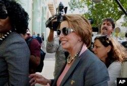 Nancy Pelosi, líder de la minoría demócrata en la Cámara de Representantes.