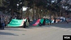 اولین راهپیمایی باشنده گان ولایت هرات در حمایت از پروژه تاپی