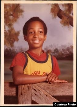 Kwame Alexander as a child