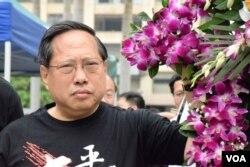 香港支聯會主席何俊仁。(美國之音湯惠芸攝)