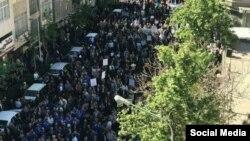 تجمع روز جهانی کارگر مقابل مجلس شورای اسلامی در تهران