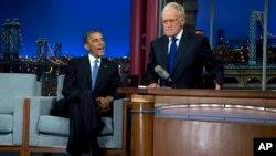 Барак Обама на шоу с Дэвидом Леттерманом