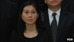 國民教育家長關注組成員、大律師潘淑瑛表示,不肯定這次遊行是否能改變北京對白皮書的立場 (美國之音湯惠芸拍攝)