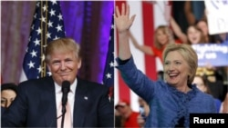 Republican Donald Trump and Democrat Hillary Clinton are forecast to move even closer to clinching their parties' presidential nominations after Tuesday's primaries.