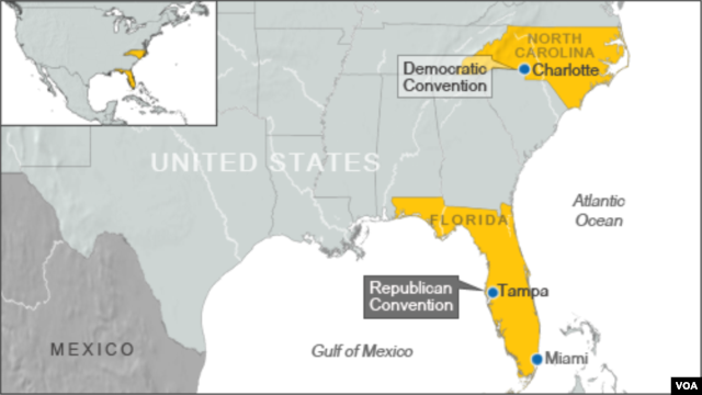 Location of RNC and DNC conventions