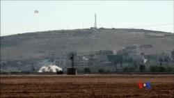 2014-10-07 美國之音視頻新聞: 美國對敘利亞重鎮科巴尼外圍進行空襲