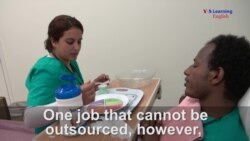 Immigrants Learn Nursing Skills as They Learn English