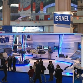 The Israeli exhibit at India's defense show, New Delhi. 15 Feb 2010