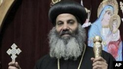 FILE - Bishop Barnaba El Soryany is seen at the Coptic church in Rome, 05 Jan 2011.