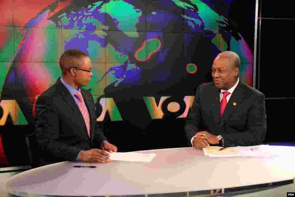 VOA's Vincent Makori interiews Ghanaian President John Mahama