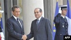 Николя Саркози и Махмуд Джибриль. Париж. 24 августа 2011 года
