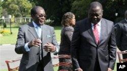 Shugaban Zimbabwe Robert Mugabe da Firayim Minista Morgan Tsvangirai
