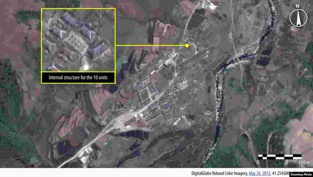 Housing construction at Camp 16, North Korea, May 26, 2013. (Amnesty International/DigitalGlobe)