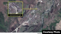 Construcción en el Campo 16, en Corea del Norte. (Amnesty International/DigitalGlobe)