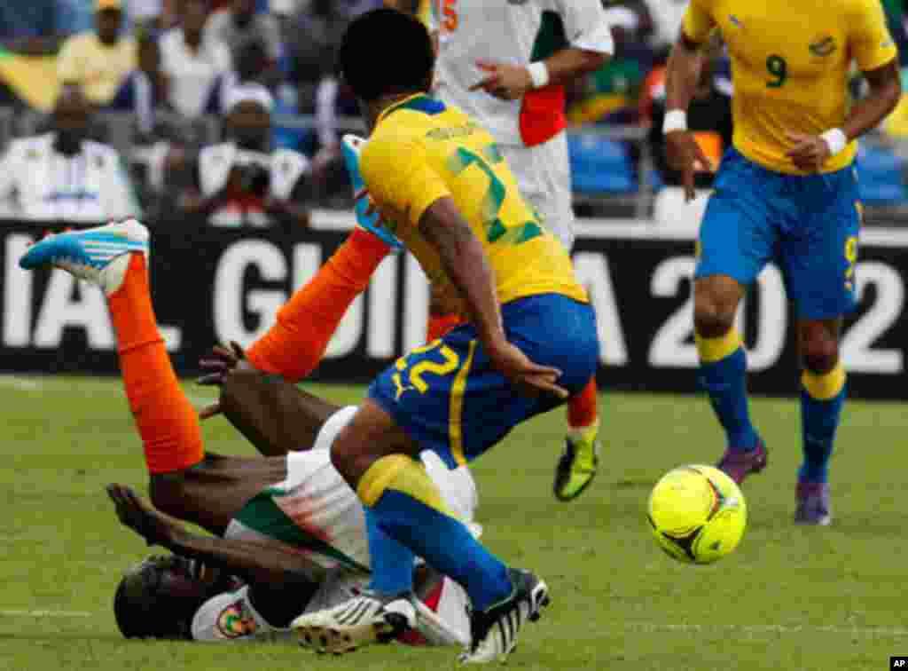 Sawirro: Ciyaartii Dhexmartay Gabon iyo Niger (2-0)