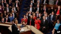 바락 오바마 미국 대통령이 12일 의회에서 2016년 국정연설을 했다.