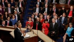 President Barack Obama gives his State of the Union address before a joint session of Congress on Capitol Hill in Washington, Jan. 12, 2016. (AP Photo/J. Scott Applewhite)