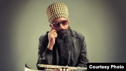Amit and Naroop's portrait of Sonny Singh, an original member of the acclaimed Brooklyn Bhangra band, Red Baraat.