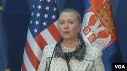 美國國務卿克林頓(美國之音視頻截圖)