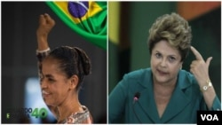 Marina Silva do PSB e Dilma Roussef