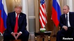 Президент США Дональд Трамп и президент России Владимир Путин. Хельсинки, Финляндия. 16 июля 2018 г.
