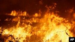Dos incendios en el occidente y este de Sacramento han sido modestamente controlados, dijo el gobernador Jerry Brown.