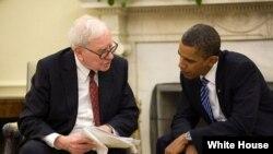 ມະຫາເສດຖີຫລາຍພັນລ້ານໂດລາ Warren Buffett ກັບປະທານາທິບໍດີ ບາຣັກ ໂອບາມາ