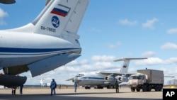 Завантаження російської допомоги для Італії. Світлина поширена пресслужбою російського міністерства оборони 22 березня 2020 р.