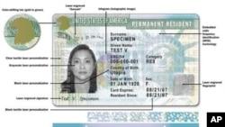 美國綠卡樣本