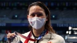香港選手何詩蓓奪得女子200米自由泳奧運銀牌