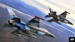 美国空军F-16战机训练