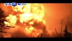 Hai nhà máy bốc cháy ở miền nam bang Connecticut
