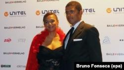 Isabel dos Santos et son mari Sindika Dokolo à Luanda, Angola, le 5 novembre 2011.